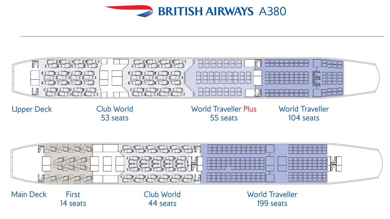 Ba A380 Seat Map BA A380 Layout